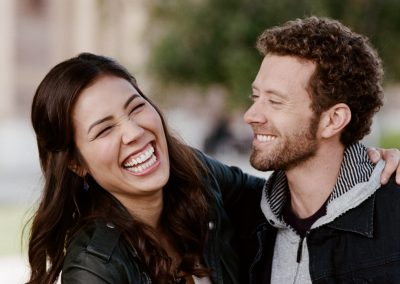 Michaela Conlin and TJ Thyne of FOX TV series Bones