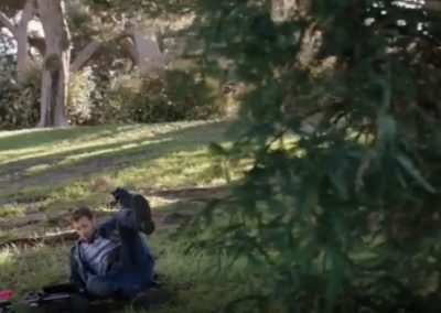 The Carpals in the Coy-Wolves  Hodgins talks to Angela after being shot with a tranquilzer