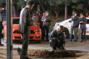 "BONES: L-R: John Boyd and TJ Thyne in ""The Doom in the Boom"" ©2015 Fox Broadcasting Co. Cr: Patrick McElhenney/FOX"