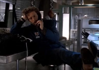 The Girl in the Gator Hodgins Leaning on Alligator