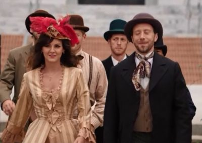 The Woman in White Hodgins & Interns Dress Up for Wedding