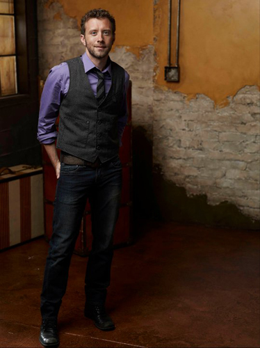 TJ-Thyne-Purple-shirt-grey-suit-distressed-wall-photo9
